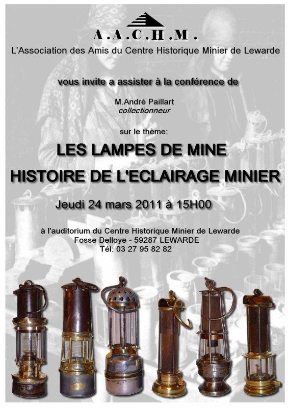 Art 1434 : Conférence sur les lampes de mine au Centre Historique Minier de Lewarde