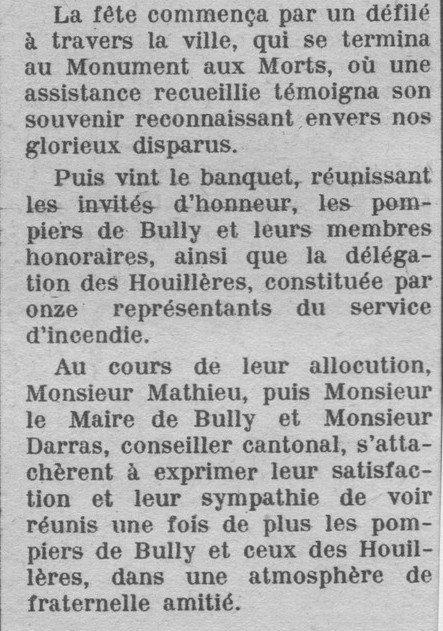Art 1516 : Les pompiers des Houillères en 1951