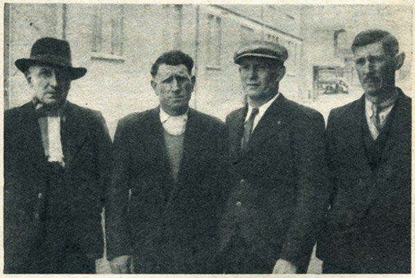 Art 1635 : Trois pensionnés de la fosse 2 de Bully en 1951