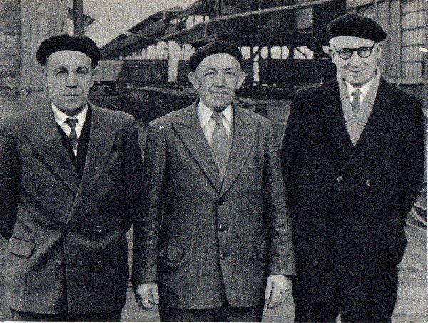 Art 1656 : Trois retraités de la fosse 6 de Bully ( cité des brebis ) en 1957