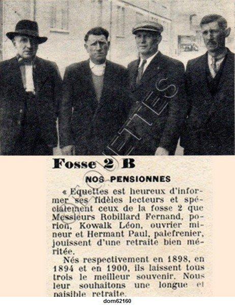 Art 1802 : Juin 1951 : Pensionnés de la Fosse 2