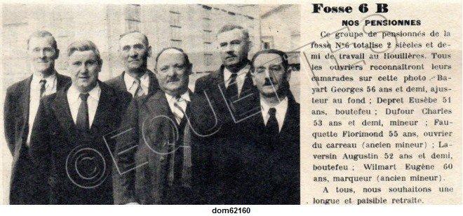Art 1803 : Pensionnés de la Fosse 6 des Brebis, juin 1951