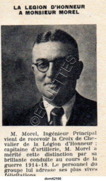 Art 1806 : La Légion d'Honneur à Monsieur Morel