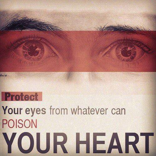النظره سهم مسموم من سهاب اٍبليس من تركها مخافة الله أبدله عنها اٍيمانا يجد حلاوته فى قلبه