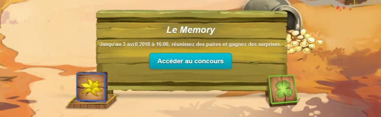 Nouveau concours : Le mémory