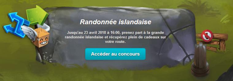 Nouveau concours : La randonnée Islandaise