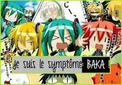 Je suis le symptôme Baka et fière de l être XDDDD