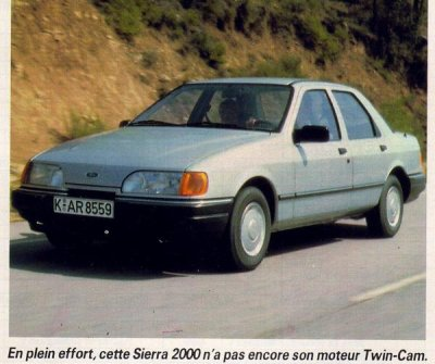 Lancement d'une nouvelle Sierra version 4 portes en février 1987