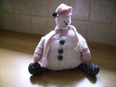 Bonhomme de neige en attente de l'hiver