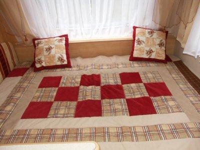 Couvre-lit pour la caravane