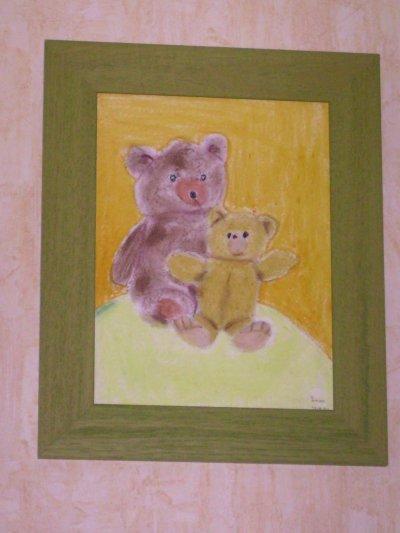 Mon petit-fils, Simon, a peint ce tableau à l'âge de 10 ans. Je le trouve superbe !
