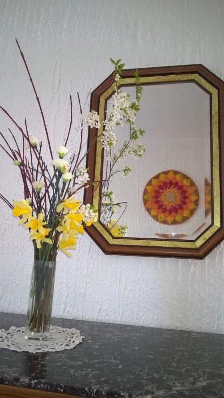 Mon bouquet dans l'entrée