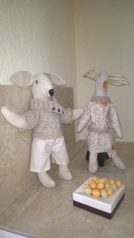 Mes lapinots vous souhaitent de Joyeuses Pâques  !