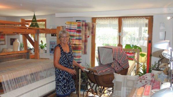 Visite guidée intéressante de l'atelier de tissage de kelsch de Sentheim