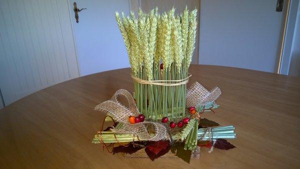 L'atelier floral du mois  : carré de blé