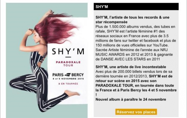 SHY'M: Tournée & album