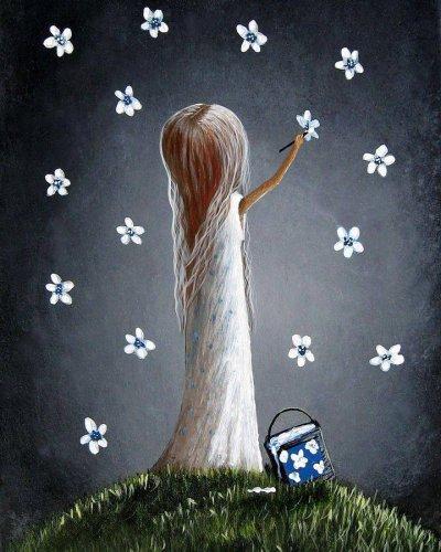 Les étoiles et la fleur !!! (Merci petite Marie )