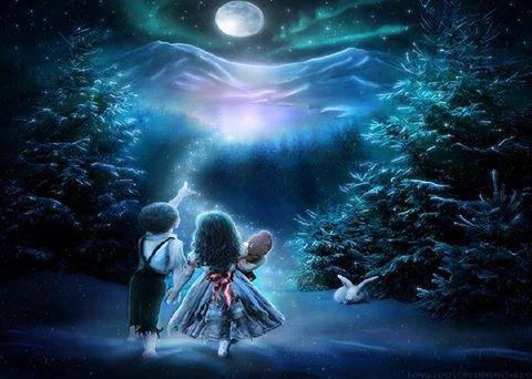 Les anges et la lune !! (Merci Myriam pour l'image)