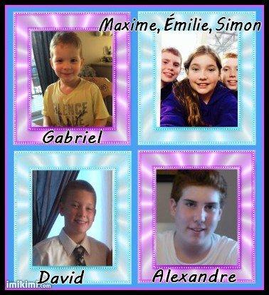 Mes 6 petits enfants