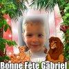 bonne fête petit Gabriel pour tes 3ans  !