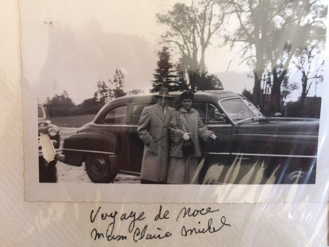 Souvenirs de papa Michel maman Claire ____ 13 octobre 1952