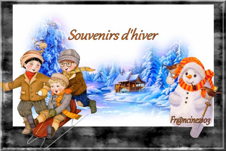 Souvenirs d'hiver !!!