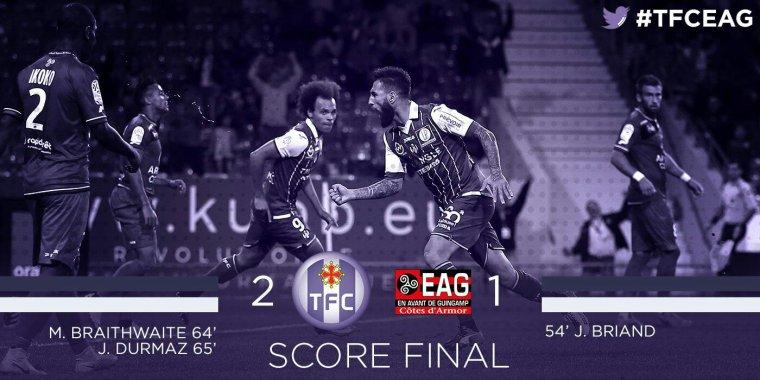 Maillot porté par Odsonne Édouard lors du match TFC vs Guingamp