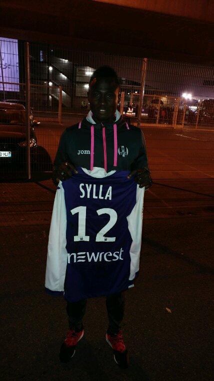 Maillot porté par Issiaga Sylla lors du match TFC vs Montpellier