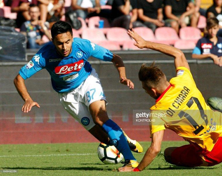 Maillot porté par Adam Ounas lors de Naples vs Benevento