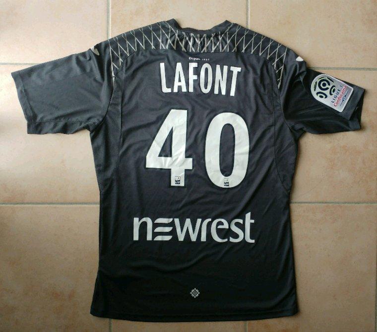 Maillot préparé pour Alban Lafont (modèle rare car non utilisé en championnat au moment où il m'a été offert)