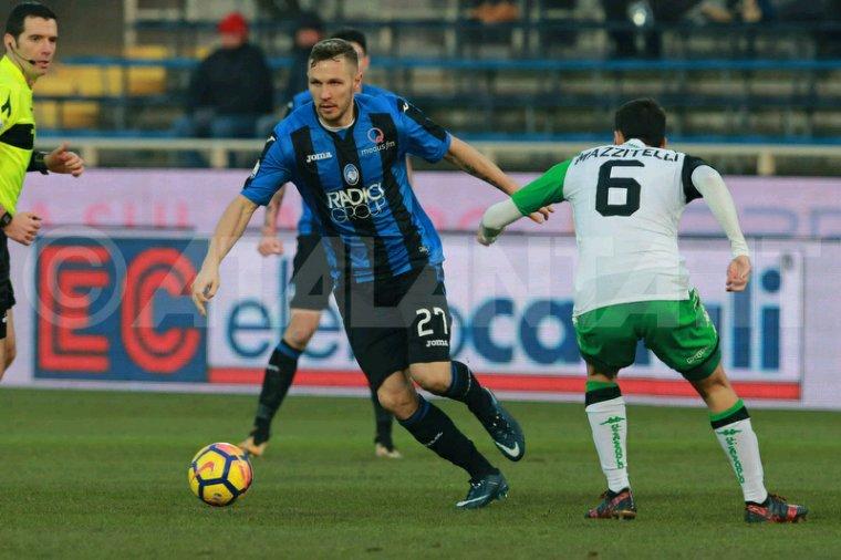 Maillot porté par Luca Mazzitelli lors de Atalanta Bergame vs Sassuolo en Tim Cup le 20 Décembre 2017