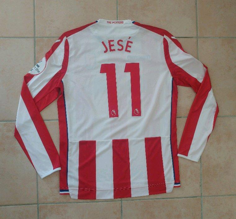 Maillot préparé pour Jesé pour Stoke City vs Tottenham