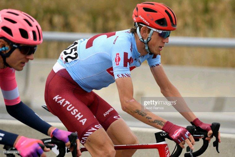 Maillot porté par Ilnur Zakarin lors de la Volta Catalunya 2019