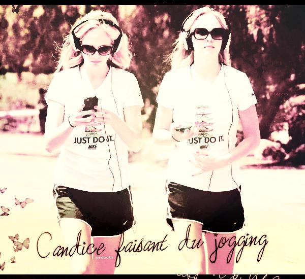 27 Avril 2012: Candice faisant du jogging (création deForgiveThem)