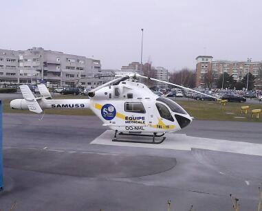 hélicoptére du SAMU59 basé au CHR LILLE
