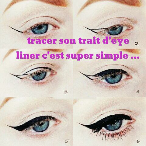 Le trait d'eye liner ...