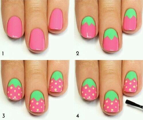 Nail-art fraise !