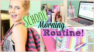 School morning routine !!