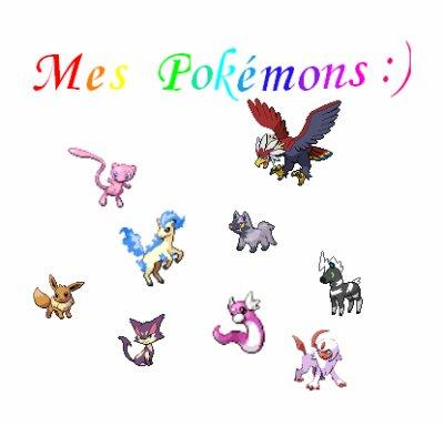 Mes Pokémons :)