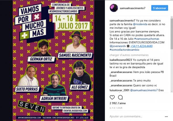 News de Samuel Nascimiento , du 09/07/2017