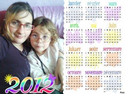 calendrier 2012 avec ma fille est moi