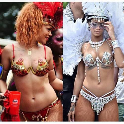 Rihanna à la Barbade.