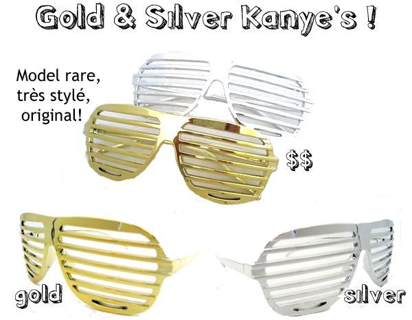 002 ♥ Lunettes Kanye West Or   Argent - I ♥ lunettes FLUO ! c6bfed18be25