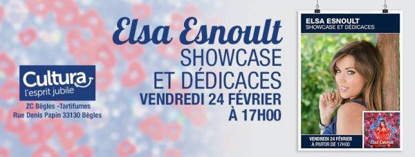 Deuxième date pour Elsa en séance de dédicaces et showcase