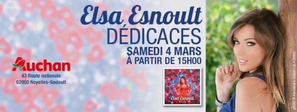Séance de dédicaces pour Elsa a Auchan Noyelles Godault dans le pas de Calais
