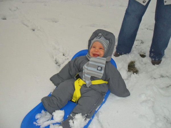 Enzo dans la neige