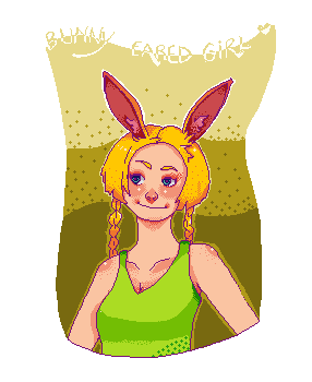 +  Friends || + Favorites PIXEL ART : BUNNY EARED GIRL ♥