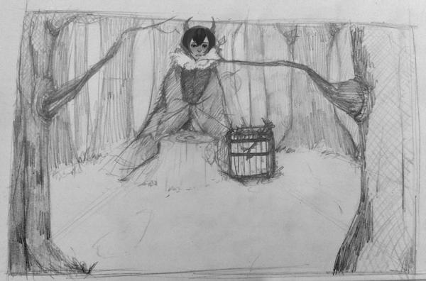 . 'ILLUSTRATION' : USHI IN THE FOREST (que d'originalité)