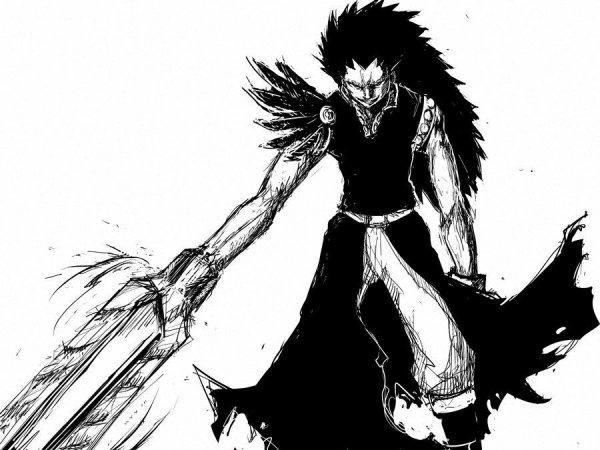 Gajeel en Dragon ombre d'Acier