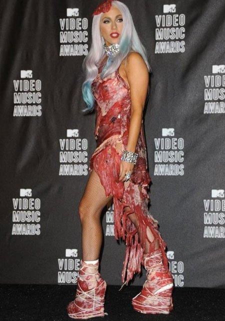 Lady Gaga : vente de sa robe en viande